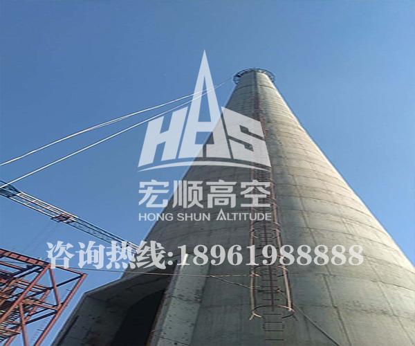 110米水泥烟囱新建