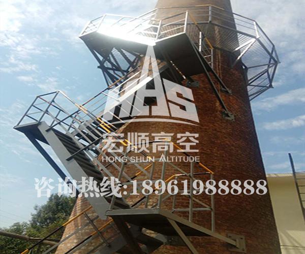 砖烟囱安装折梯